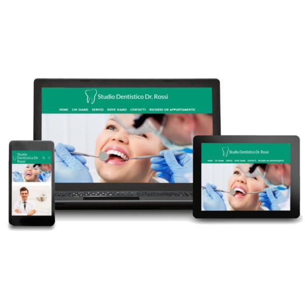 anteprima responsive sito web per dentista base