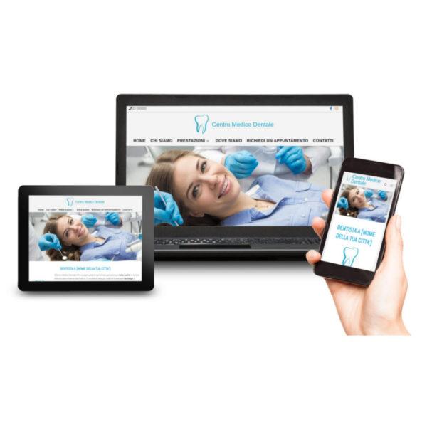 anteprima responsive sito web per dentista intermedio